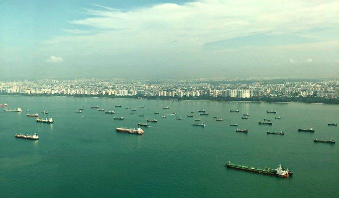 cargo ships in Singapore