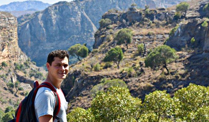 Matt hiking in Madagascar