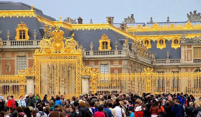 the golden gates at the palace of versailles
