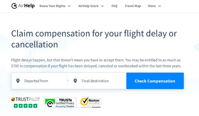 AirHelp logo and image for travelers