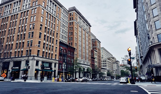 the streets in Washington d.c.
