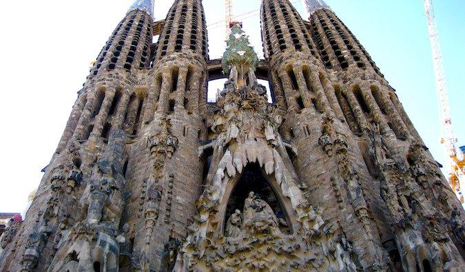Gaudi's La Sagrada Familia in Barcelona Spain