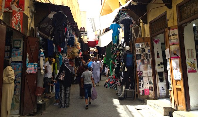 wandering the fez medina in morocco