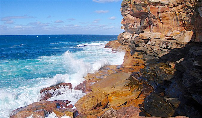 Coastal walk in Sydney, Australia