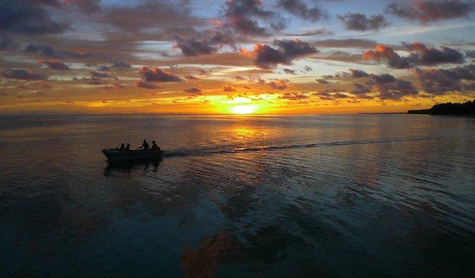 A view of Kiribati