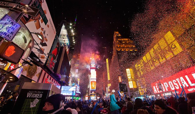 New York times square on New Year's eve