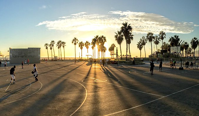 people playing basketball in Los Angeles