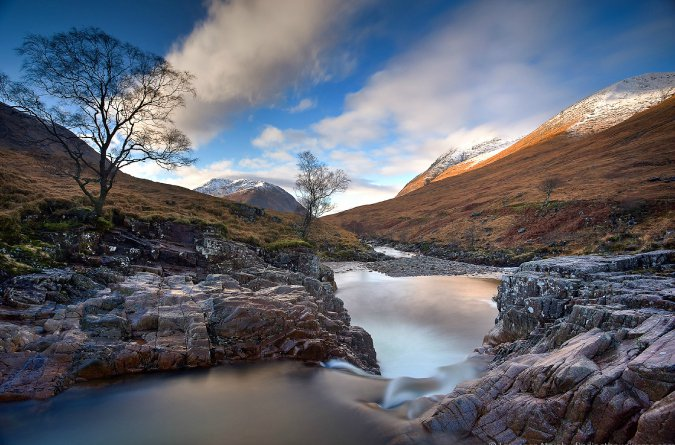 Photo of waterfall, Glen Ivet Valley in Scotland by Laurence Norah