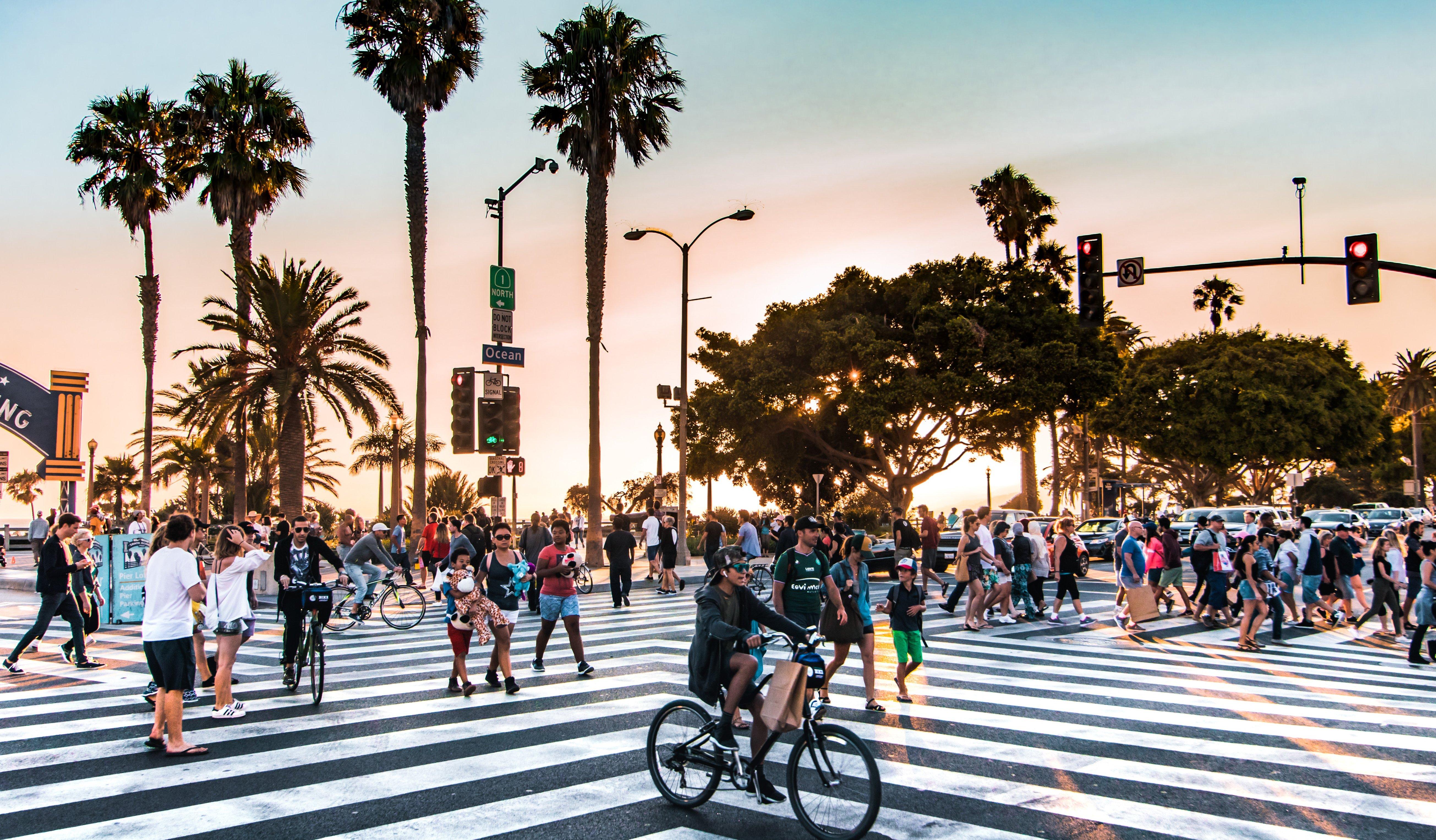 Los Angeles crosswalk