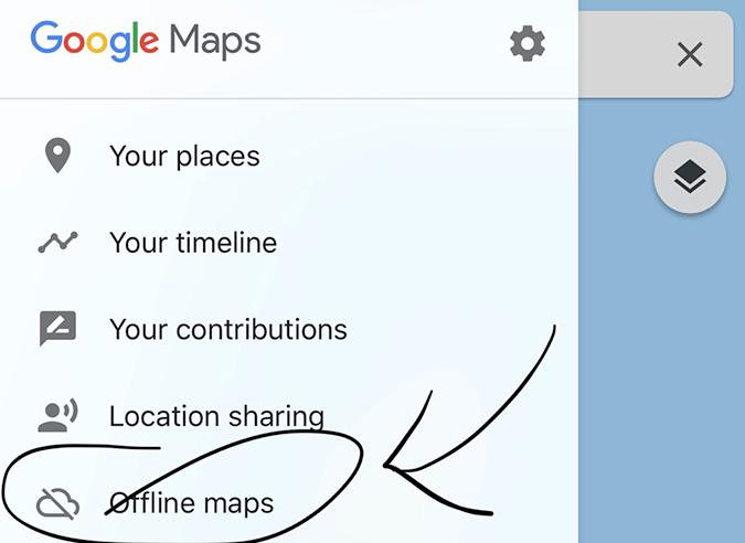 downloading offline maps