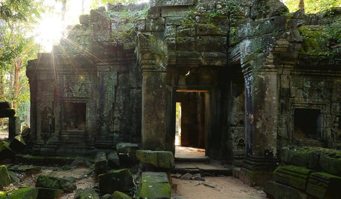 The old temples of Angkor Wat in Cambodia