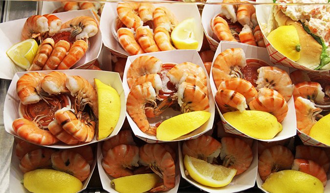 Fresh seafood from Boston's Quincy Market