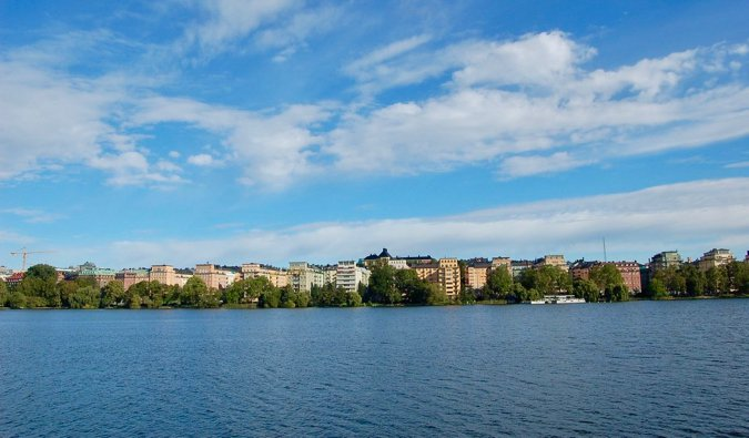 Looking across the water in Stockholm to the Kungsholmen district