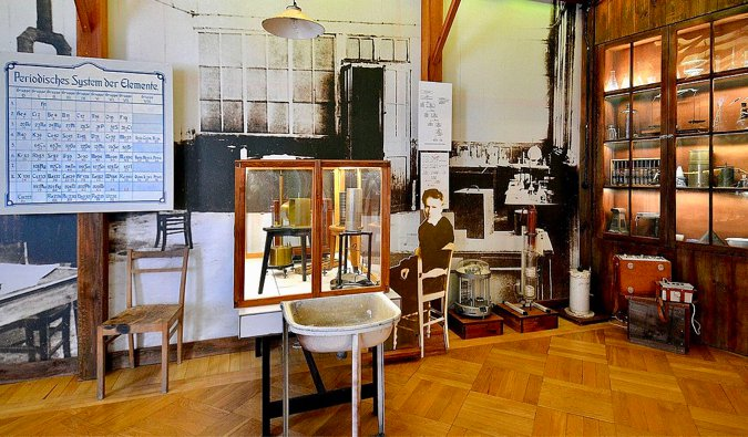 The interior of the Curie Museum in Paris, France
