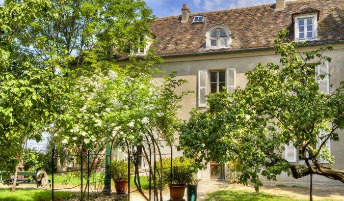 The queen gardens of the Montmartre Museum in Paris, France