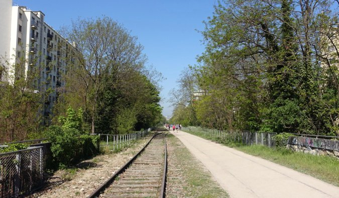 The Petite Ceinture abandoned train tracks in Paris, France