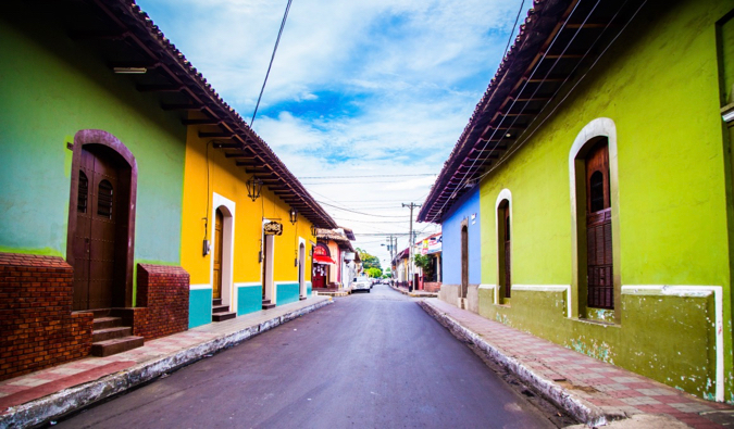 The small and colorful buildings of Central America