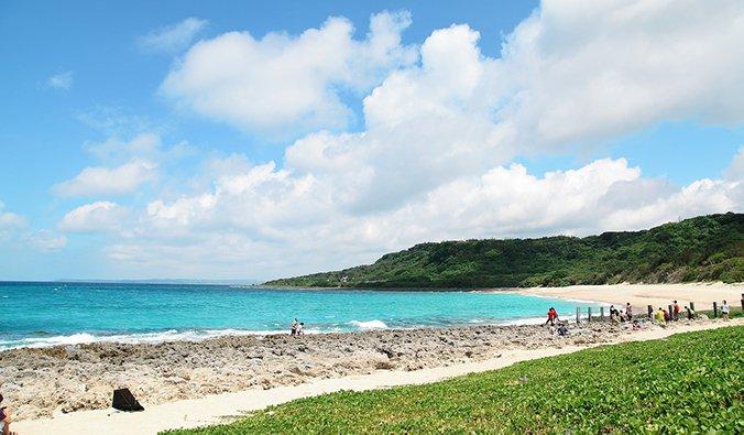beautiful Taiwan coastline in the north