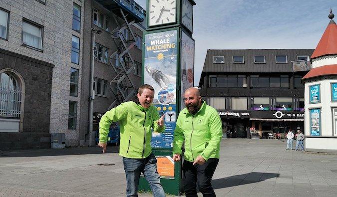 the guides at Follow Me - Free Walking Tour Reykjavik