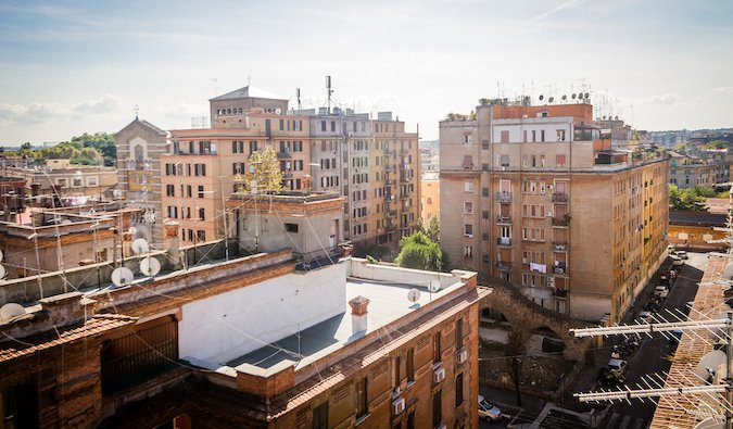 Testaccio skyline in Rome; photo by Nicola (flickr:@15216811@N06)