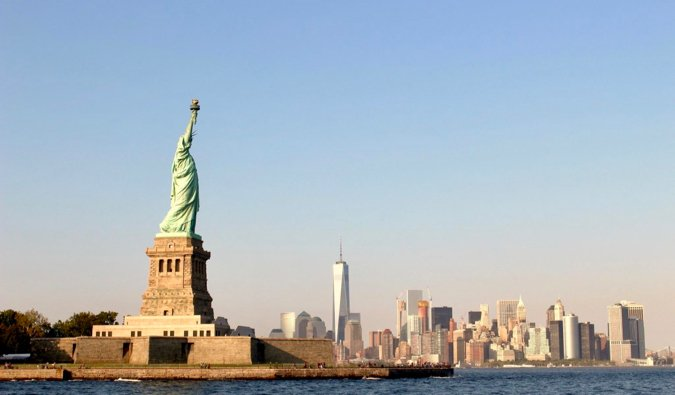 The Statue of Liberty on Ellis Island in New York City