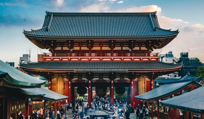 The historic and famous Asakusa Temple in Tokyo, Japan