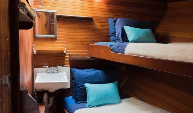 One of the cozy cabins on the Liberty Tall Ship in Boston