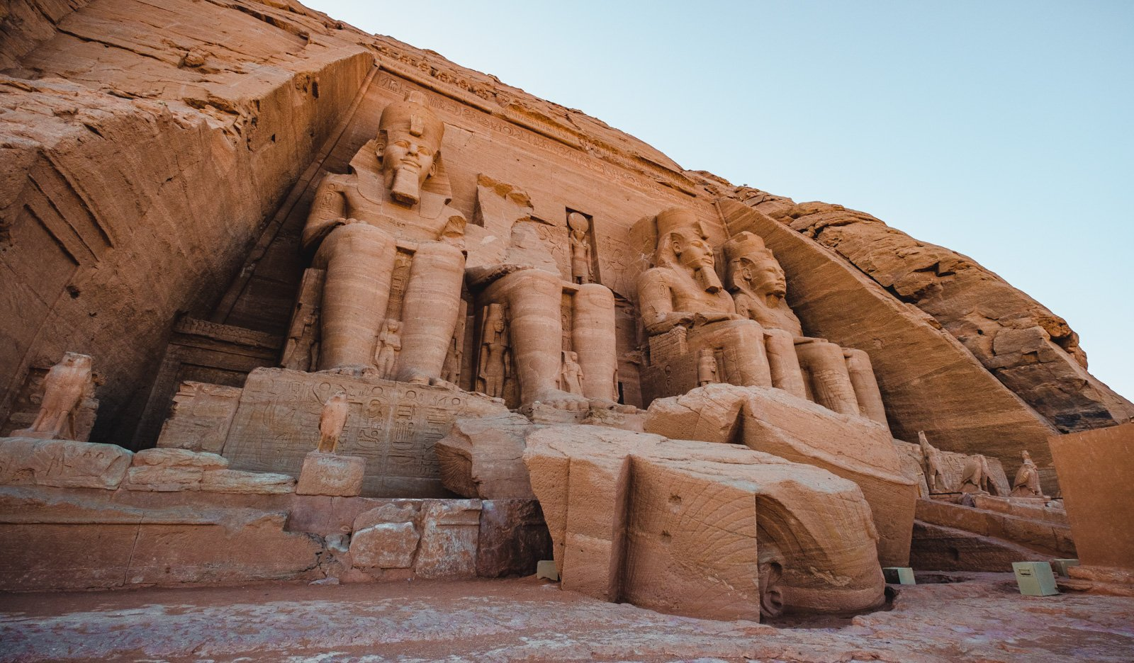 Ancient stone monuments in the Egyptian desert