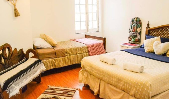 one of the dorm rooms in Hostel Home, Mexico City