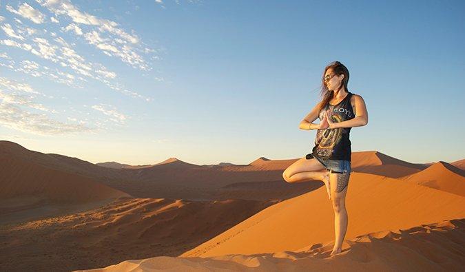 Kristin Addis in Namibia