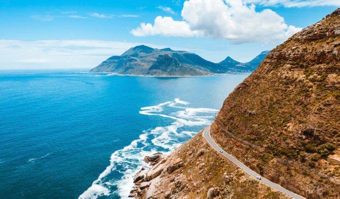 The coastal drive near Cape Town, South Africa