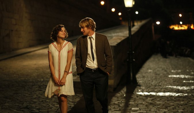 A scene from the film Midnight in Paris