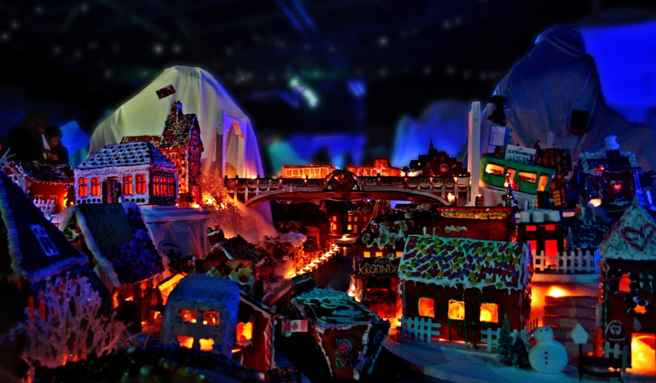The gingerbread houses and villages of Pepperkakebyen in Bergen, Norway