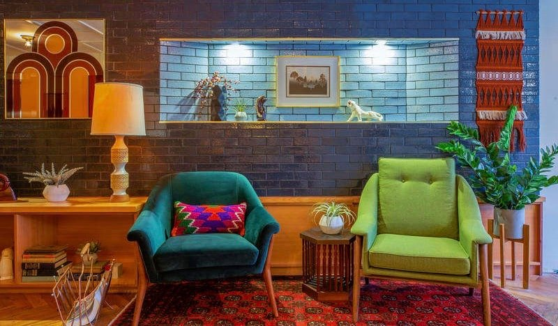 The common area of the Chicago Getaway Hostel in Chicago, USA