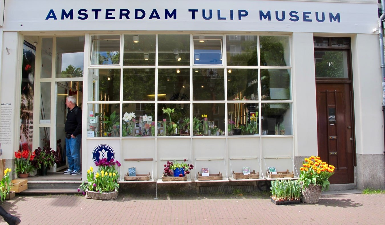 The small Tulip Museum in Amsterdam, Netherlands