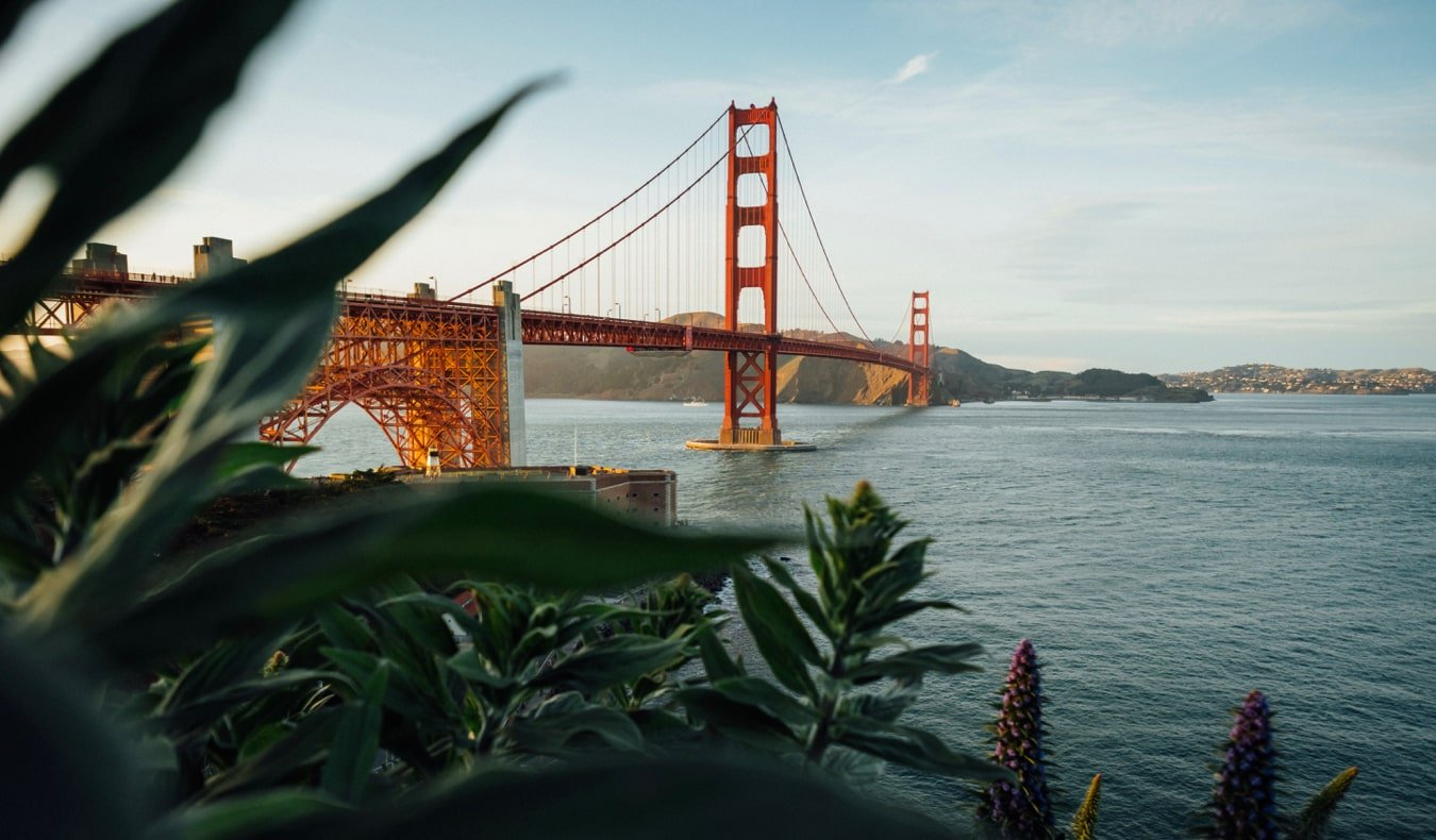 The famous Golden Gate Bridge in San Francisco, California