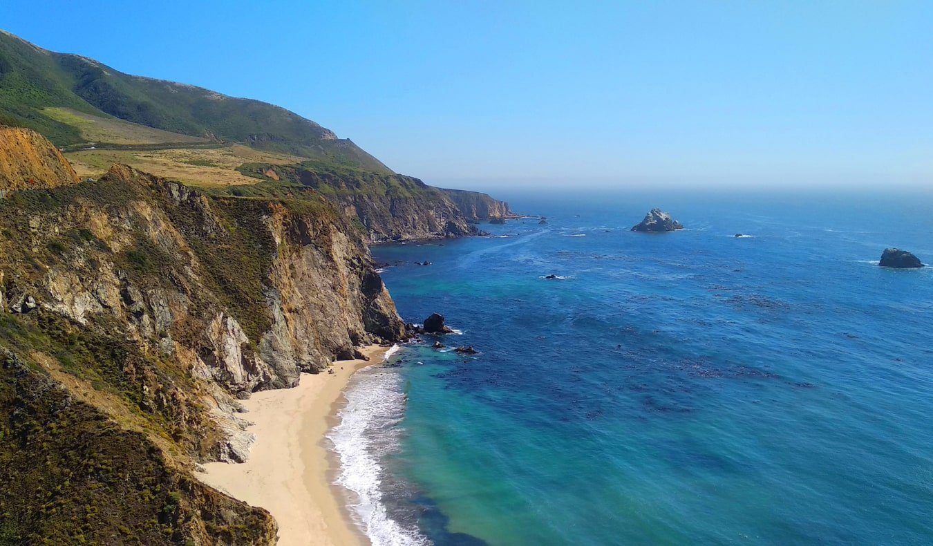 The rugged coasts and blue waters of Big Sur, California