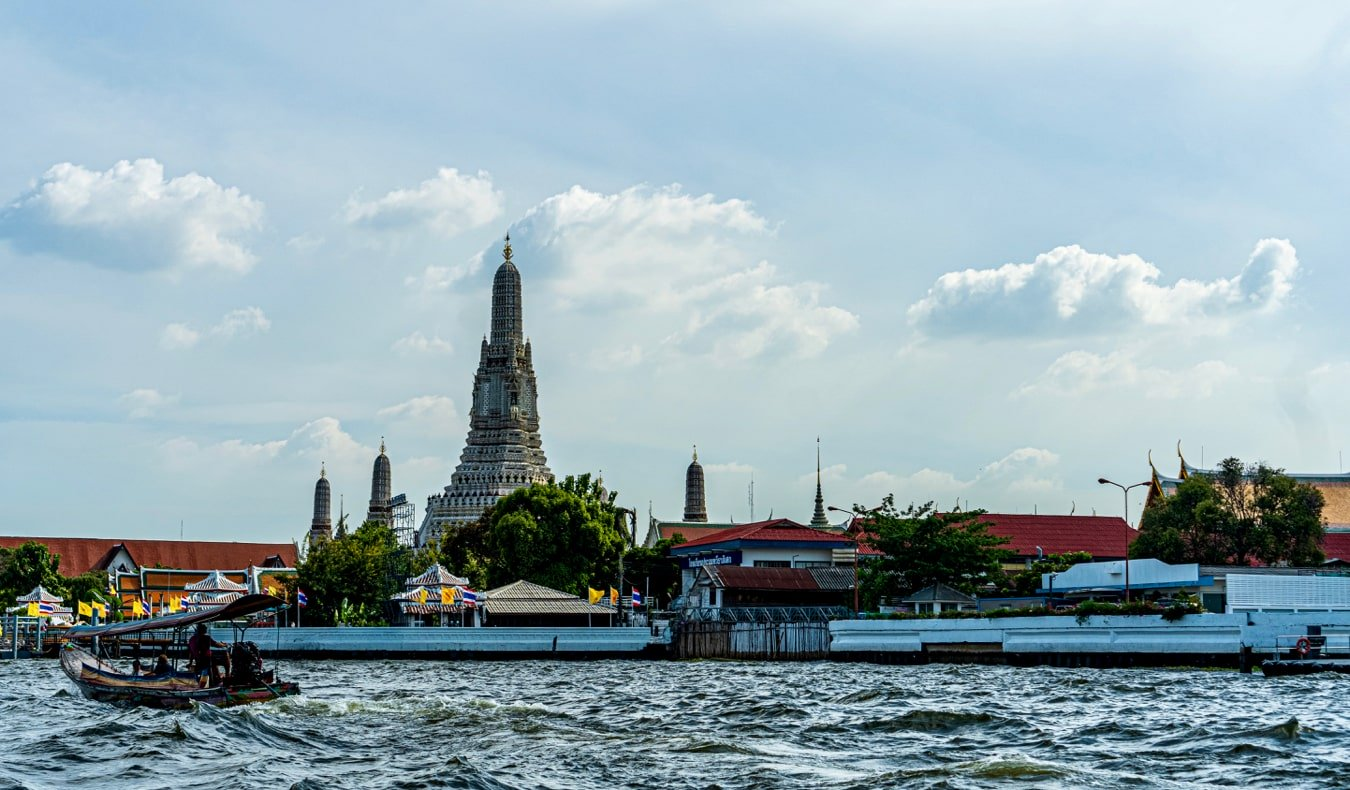 Cruising along the Chao Phraya River in  Bangkok, Thailand