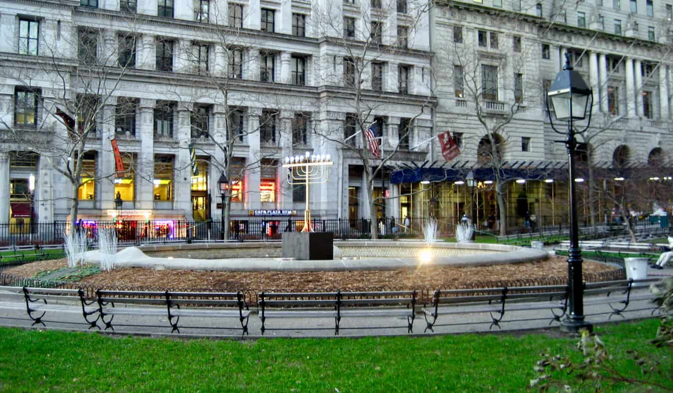 Bowling Green Park in New York, USA
