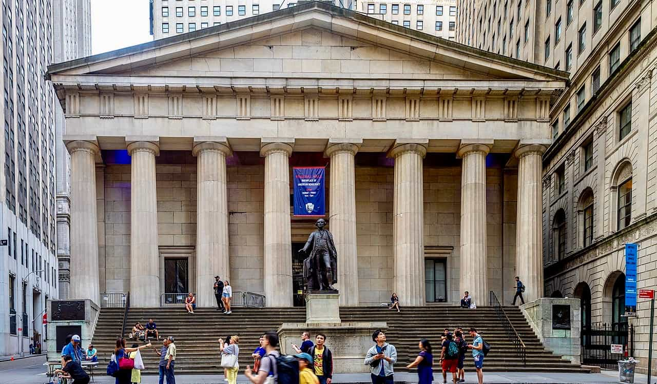 The Federal Hall National Memorial in New York City, USA
