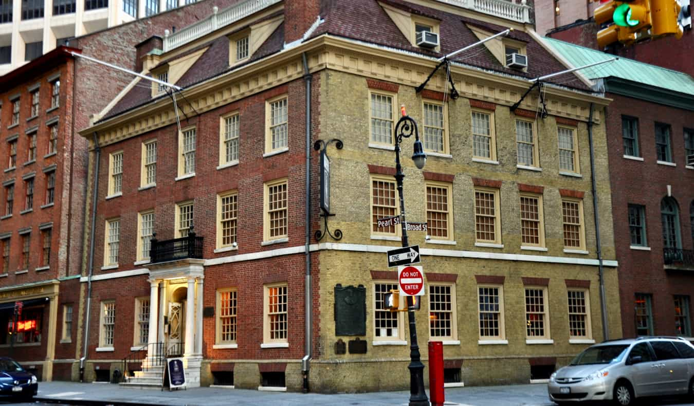 The historic Fraunces Tavern building in New York, USA