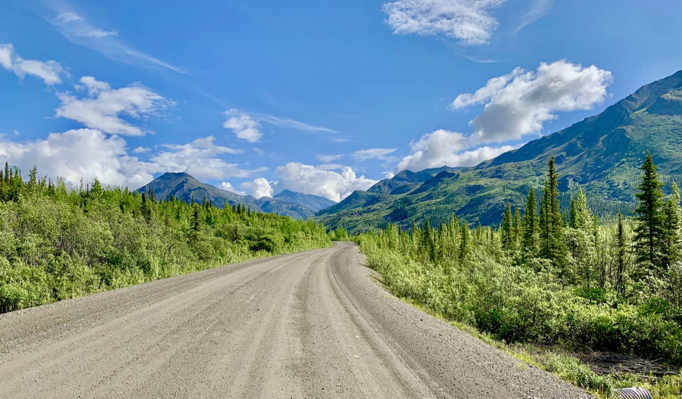 The Dempster Highway in Yukon, Canada