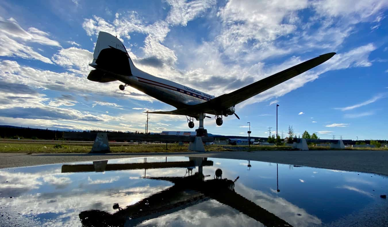 An old airplane at the Museum of Transportation in Yukon, Canada