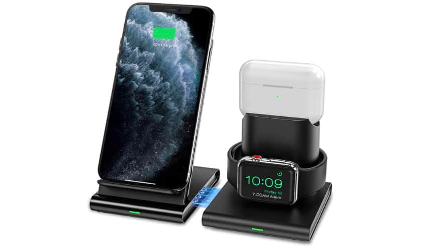 An Apple 3-in-1 charging station