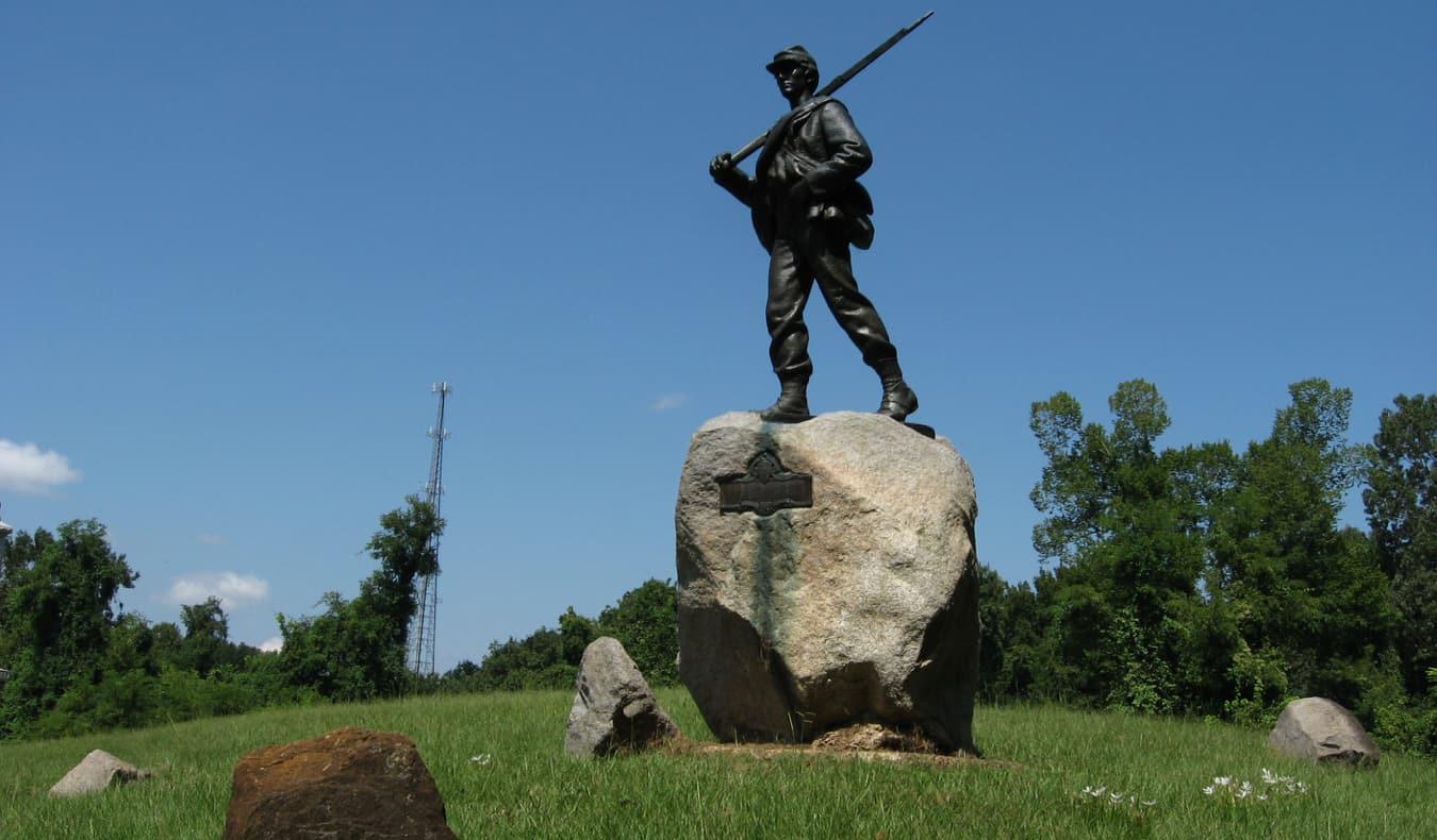 A Civil War memorial in Vicksburg, Mississippi