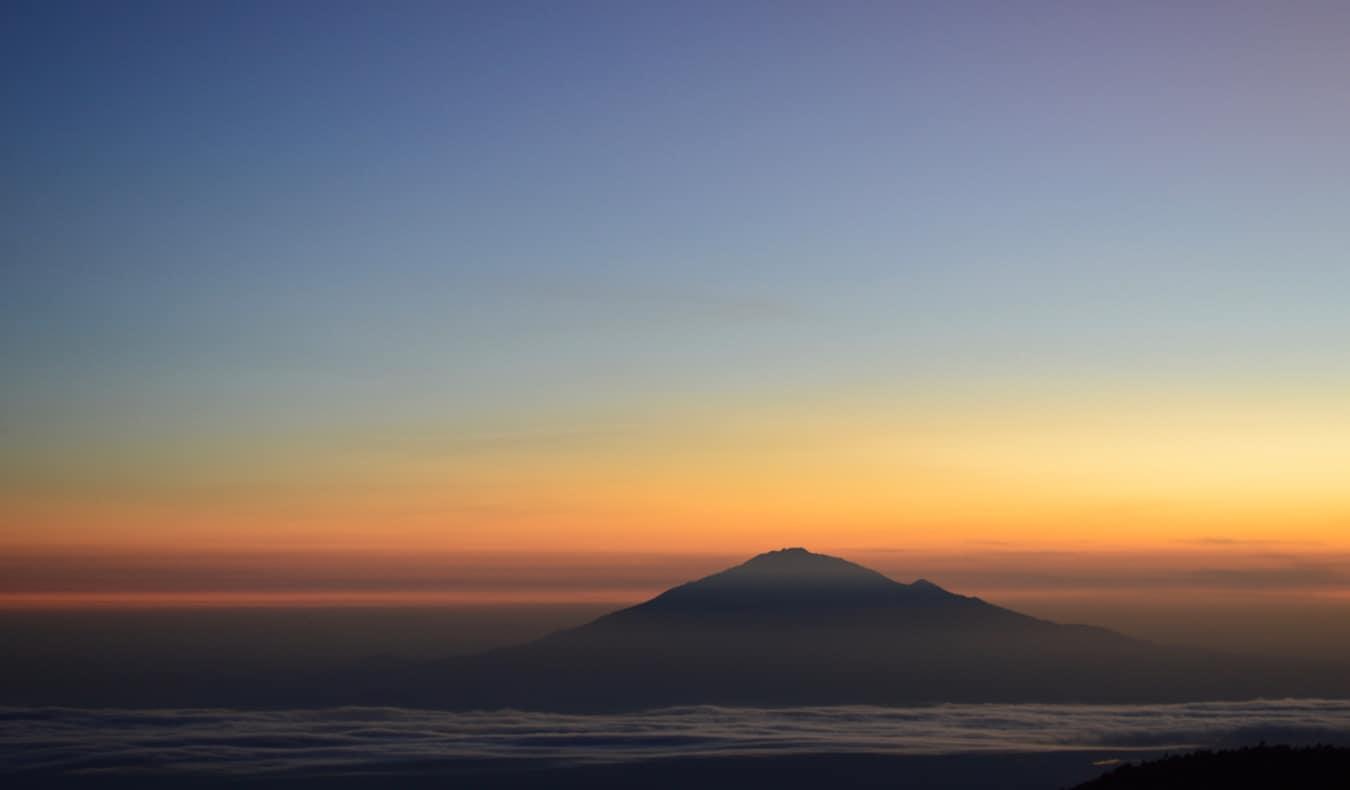 Sunset over Mount Kilimanjaro in Africa