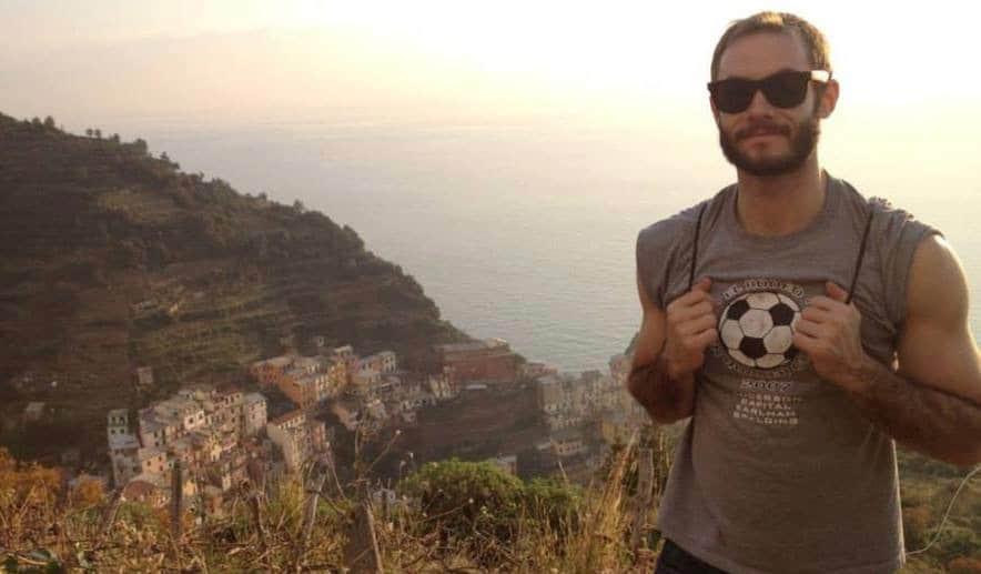 Scott Keyes from Scott's Cheap Flights posing for a photo in Italy